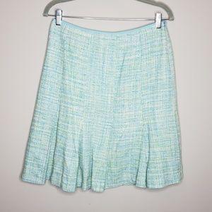 Pendleton Tweed Silk Pleated A Line Skirt Size 10